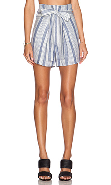 Jenni Kayne Paper Bag Short in Blue & White