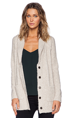 Jenni Kayne Shawl Collar Cardigan in Oatmeal