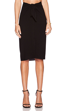 Jenni Kayne Wrap Skirt in Black