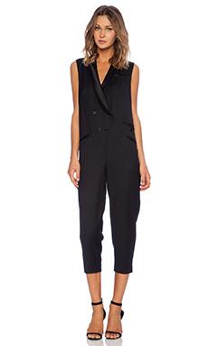 Jenni Kayne Tuxedo Jumpsuit in Black