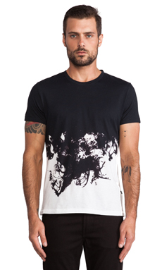 J. Lindeberg Sev Crew Ink Wing Jersey Tee in White