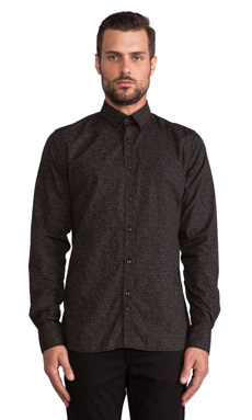 J. Lindeberg Dani Cl Plkt Krill Blacks Button Down in Almost Black