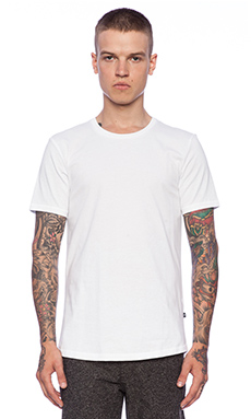 J. Lindeberg Axtell Crew Allround Jersey Tee in White