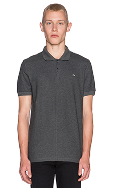J. Lindeberg Rubi Slim JL Pique Polo in Dark Grey Melange