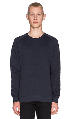 J. Lindeberg Chad Quilt Jersey in Dark Navy