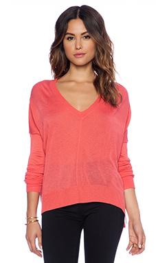 John & Jenn by Line Bellamy V Neck Sweater in Pink Charm