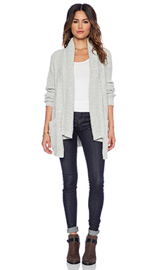 John & Jenn by Line Manon Oversized Cardigan in Light Smoke