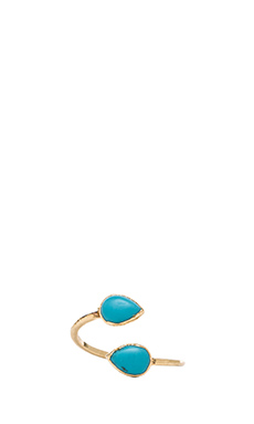 JNB Double Stone Ring in Teal
