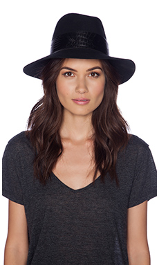Janessa Leone Ruby Hat in Black