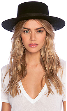 Janessa Leone Gabrielle Hat in Black