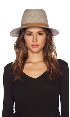 Janessa Leone Rhonda Hat in Grey Blend