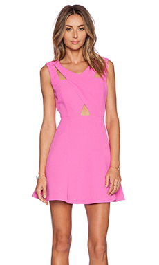 J.O.A. Fit and Flare Dress in Fuchsia Pink