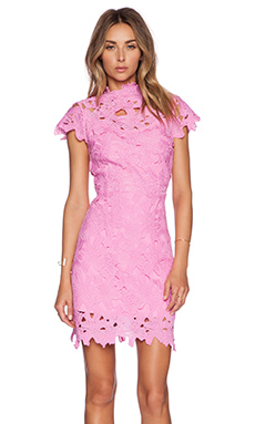 J.O.A. Floral Embossed Dress in Pink