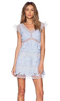 J.O.A. Lace Dress in Periwinkle