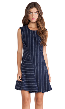 J.O.A. Structured Dress in Navy