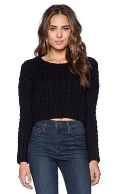 J.O.A. Cropped Sweater in Black