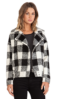 JOA Wollen Jacket in Black & White