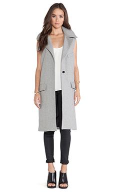 JOA Sleeveless Coat in Grey