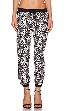 J.O.A. Palm Tree Pant in Black & White