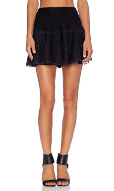 JOA Mesh Mini Skirt in Black