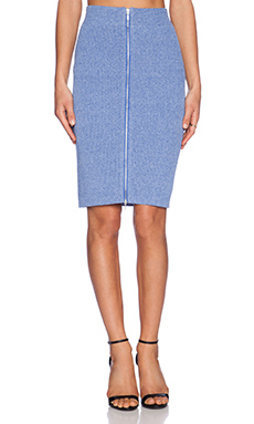 J.O.A. Front Zip Pencil Skirt in Blue Violet