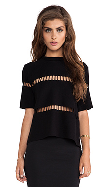 JOA Knit Top in Black