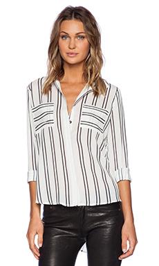 J.O.A. Striped Shirt in Ivory