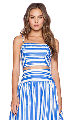 J.O.A. Striped Crop Top in Blue