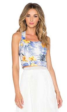 J.O.A. Hawaiian Tank Top in Blue Iris