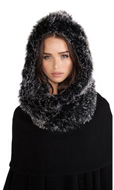 jocelyn Fox Fur Hooded Infinity Scarf