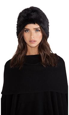 jocelyn Nealie Long Hair Rabbit Fur Hat in Charcoal