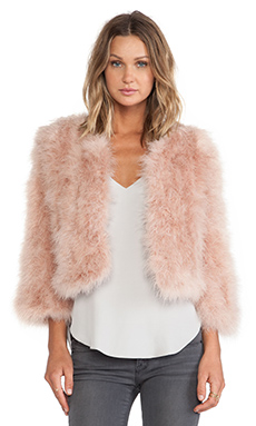 jocelyn Dyed Marabou Feather Bolero