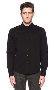 Joe's Jeans Solid Button Down in Black