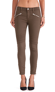 Joe's Jeans Chevron Ankle Legging in Faded Olive