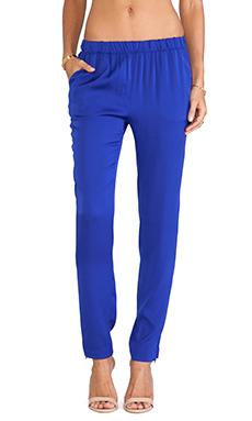 Joe's Jeans Vivian Silk Pants in Royal Blue