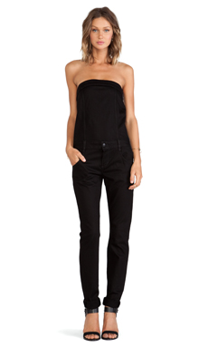 Joe's Jeans Bustier Jumpsuit in Jett