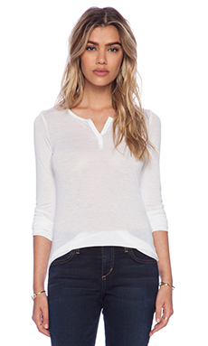Joe's Jeans Mara Henley in White