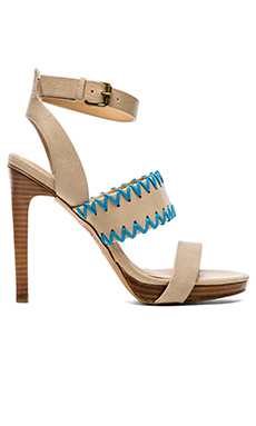 Joe's Jeans Riana Heel in Off White & Turquoise