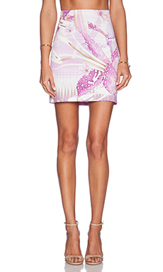 Johanne Beck Gia Pencil Skirt in Lilac Tropics