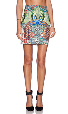 Johanne Beck Gia Pencil Skirt in Peacock Paradise