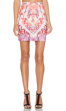 Johanne Beck Gia Skirt in Geo Grapefruit