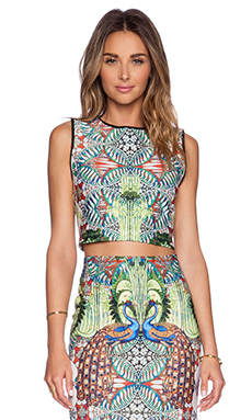 Johanne Beck Lindsey Crop Top in Peacock Paradise