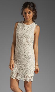 Joie Vionne Crochet Lace Dress in Off White