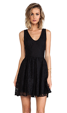 Joie Phelia Lace Dress in Caviar