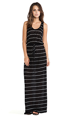 Joie Kimani Mini Stripe Maxi Dress in Caviar