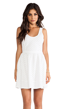 Joie Natrina Diamond Eyelent Dress in Porcelain