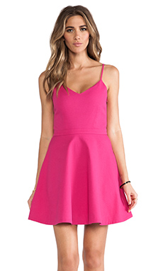Joie Viernan Cotton Pique Dress in Bougainvillea