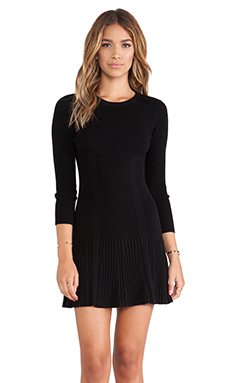Joie Jolia Sweater Dress in Dark Black