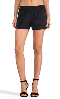 Joie Beso Sandwashed Shorts in Caviar