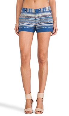 Joie Merci Ethnic Multistripe Shorts in Deep Lapis